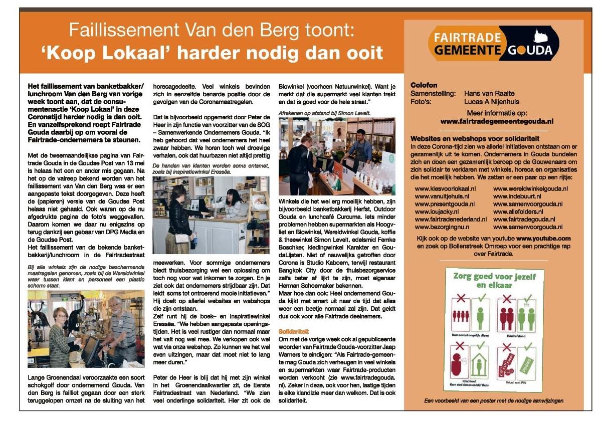 Faillissement Van den Berg toont: 'Koop Lokaal' harder nodig dan ooit
